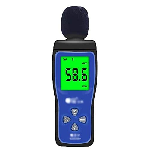 Adesign Misuratore del Livello sonoro, Meterk 30-130DB (A) Misuratore di Rumore LCD Tester del Volume del Volume di Rumore Strumento di misurazione Decibel Tester di monitoraggio con Max/min Tenuta