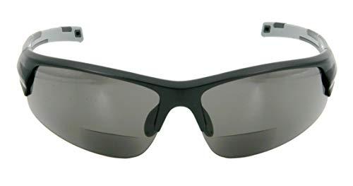 Bifokal Sportbrille mit Wechselgläsern (Stärke +2,00dpt schwarz)
