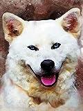 5D DIY diamante pintura gato punto de cruz cuadrado completo diamante bordado Animal perro imagen de diamantes de imitación decoración del hogar A8 40x50cm