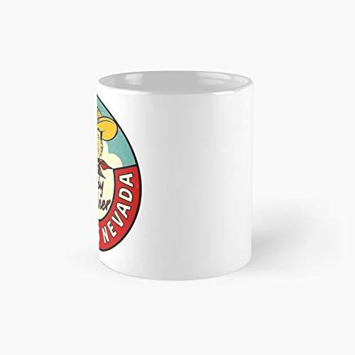 Las Vegas Vic Vintage Travel Decal Classic Mug | Best Gift Funny Coffee Mugs 11 Oz