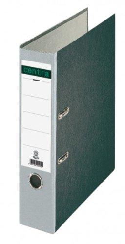 Centra Standard-Ordner (grauappe RC, mit Wolkenmarmor-Papier-Kaschierung, A4, 8 cm Rückenbreite) grau, 20 Stück