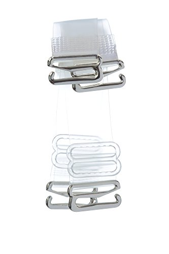 Invisible Clear Bra Straps Multiple Widths (12mm width Lift Support, Clear)
