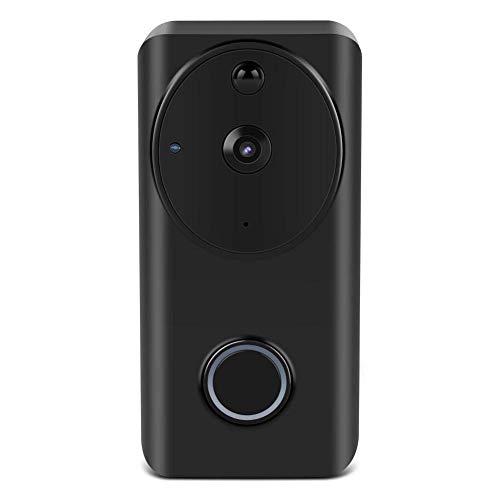 Yangangjin Video deurbel, draadloze videodeurbel, Smart WiFi deurbel, 720P HD groothoek, tweeweg-spreek, PIR bewegingsdetectie en app afstandsbediening voor iOS en Android