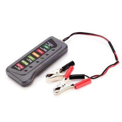 ExcLent Elektrische Fahrzeugbatterie Tester Auto Motorrad Batterie Kapazitätstest Tabelle 12V Stromzähler - Schiefer Grau