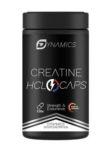 Kreatin Kapseln hochdosiert HCL 3000 - 120 Muskelaufbaukapseln Kraftsteigerung Muskelmasse aufbauen Creatin von Dynamics Nutrition +NEUES DESIGN+