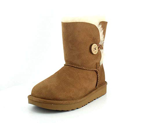 UGG Kid's Female Bailey Button II Classic Boot, Chestnut, 2 (UK)