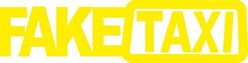 JINTORA Autocollant de Voiture - Faux Taxis - Faketaxi - Fake Taxi - Autocollant de Voiture et décalcomanies - 210x53 mm - JDM - Die Cut - Voiture - vitre - Ordinateur Portable - fenêtre