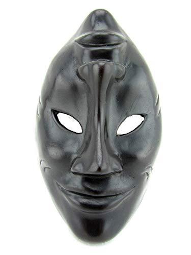 Happy Sad Mask Tragedy Comedy Masquerade Wall Decor Black Resin Small 6'