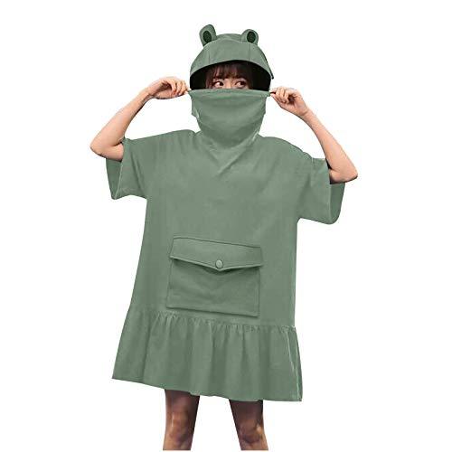 BOIYI Novelty Frog Hoodie Big Pouch Sweatshirt Blanket, Cute Zip up Green Hooded Oversized Super Soft Cozy Comfortable Giant Hoody, Fit for Men Women Teens(Green,M)