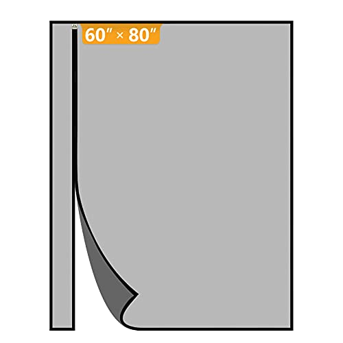 Yotache Left Right Side Universal Opening Magnetic Screen Door Fits Door Size 60 x 80, Reinforced Sewing Net Curtain for Balcony, French, Sliding Glass Door