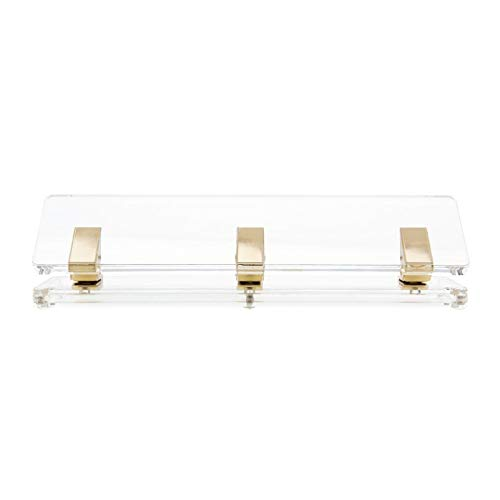 """russellhazel Acrylic Signature Hole Punch Clear with GoldToned Hardware 11"""" x 275"""" x 275"""""""