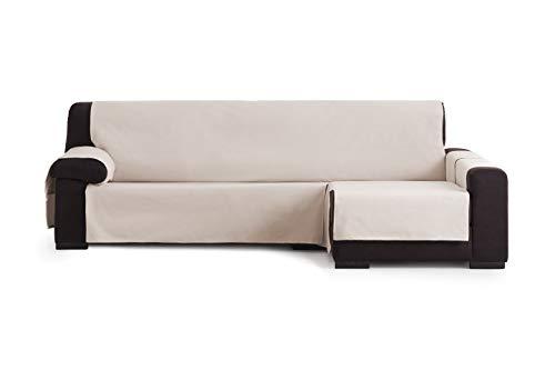 Eysa Garona Protect Funda de sofá, 90% algodón 10% Poliester, 01/Beige, Chaise Longue 240 cm