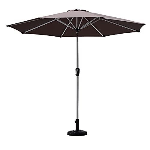 Camping Shelters Sombrillas de refugio de playa, mesas y sillas de patio al aire libre, paraguas de manivela, aleación de aluminio duradera, parasol central de pilar de 2,7 m (tamaño: 2,7 m, color: D)
