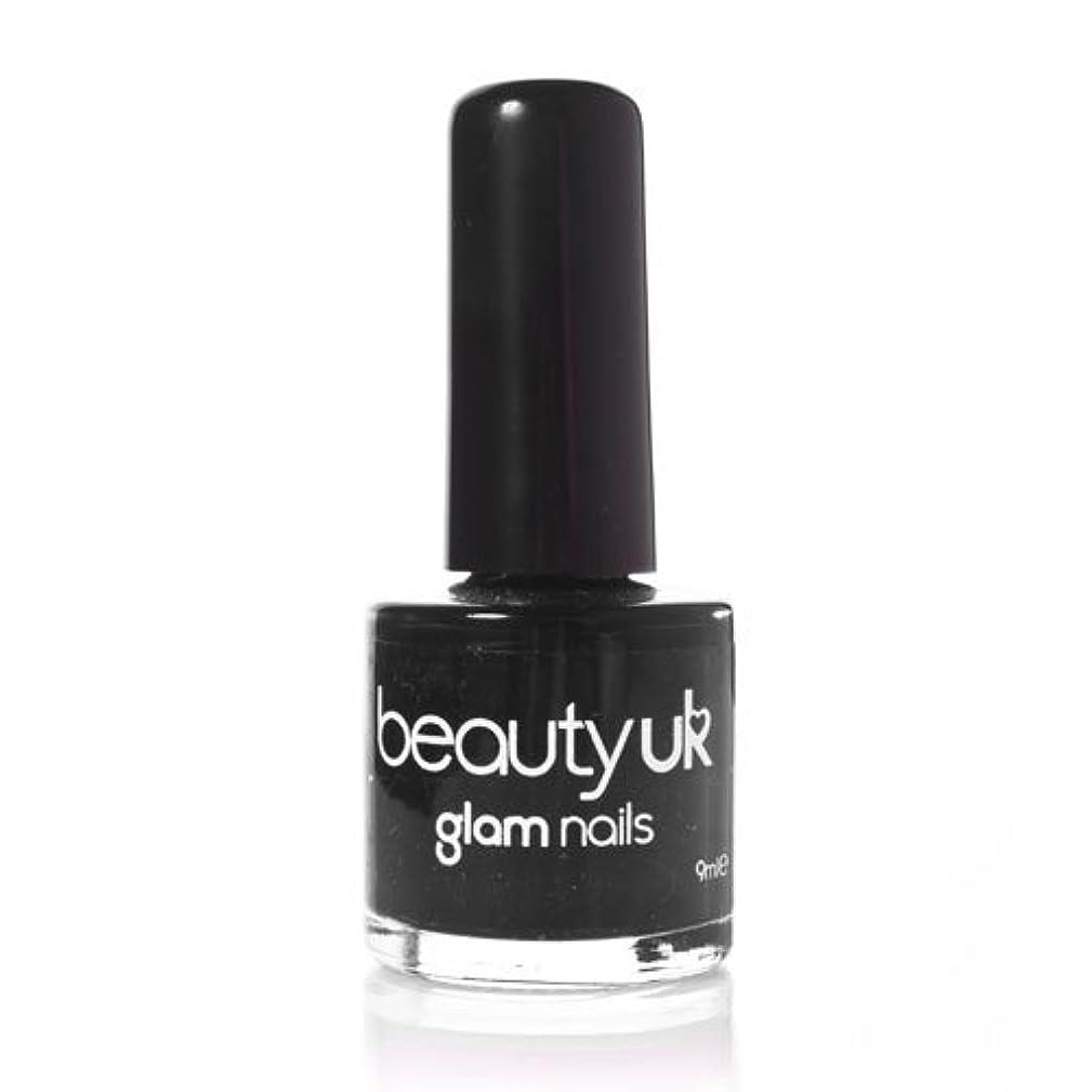 素晴らしい良い多くのブリッジ信頼性のあるBeauty Uk Glam Nails No6 Black 9ml [並行輸入品]