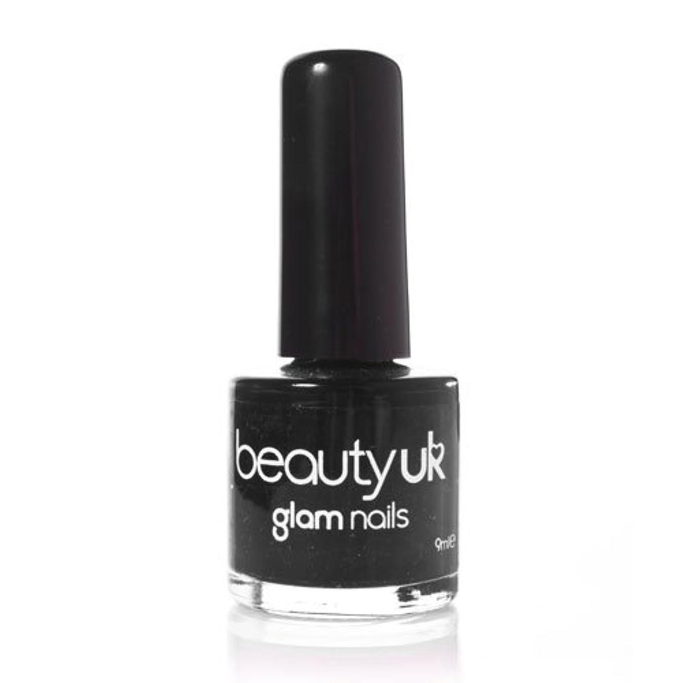 スプーン地球ロケーションBeauty Uk Glam Nails No6 Black 9ml [並行輸入品]