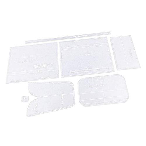 dailymall 7X DIY Schultertasche Handtasche Leathercraft Acryl Vorlagen Muster