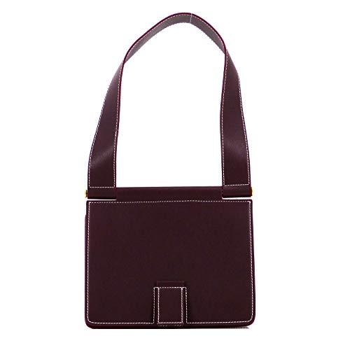 Rouven STUDIO.MUNET Leder Handtasche Schultertasche Tasche/Freda 24 Shoulder Tote Bag/medium / 24x26x11 cm/Bordeaux Rot