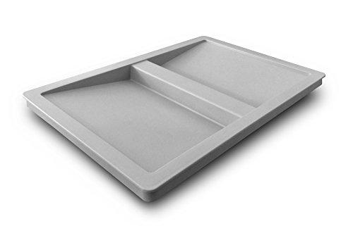 Hailo Deckel 1104849 Kunststoff grau mit Griffmulde 298 x 209 x 22 mm