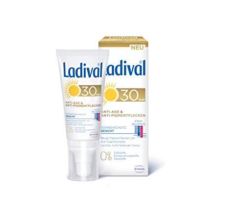 Ladival Anti-Age & Anti-Pigmentflecken LSF 30, Parfümfreie Sonnencreme, Lichtschutzfaktor 30, 50 ml