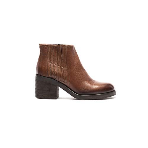 Mjus 67205 Damen Cognac Leder Stiefel mit Reißverschluss, Braun - cognac - Größe: 38 EU