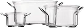 Bodum Hot PotSet of 3Dishes, K4602-16, Clear, 0.25L/1L/2.5L, Borosilicate Glass