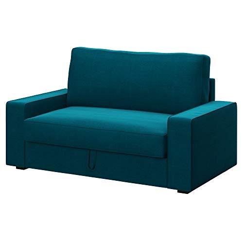 Soferia Bezug fur IKEA VILASUND 2er-Bettsofa Bezug, Stoff Elegance Turquoise