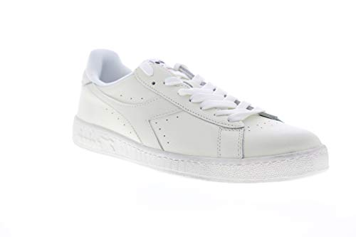 Diadora Mens Game L Low Waxed White Lifestyle Sneakers Shoes 9.5