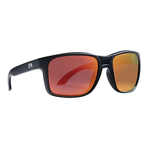 Rheos Coopers Floating Polarized Sunglasses | UV Protection | Floatable Shades | Anti-Glare | Unisex (Gunmetal | Thermal (Red Accent))