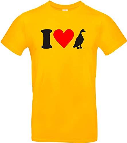 Shirtstown Kinder-Shirt lustige Tiere I love Tiere Enten, kult, Größe 104-164