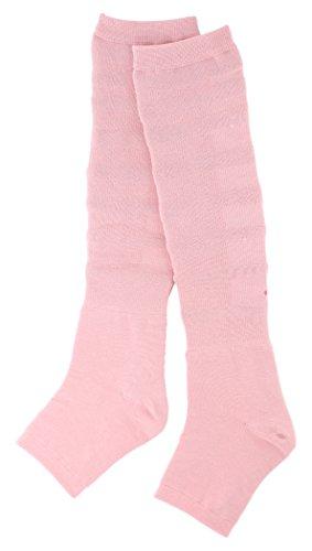 温むすび 脚 サポーター 【めぐり~ぬ ピンク フリーサイズ】 冷え むくむく感 かかとケア 着圧 マッサージ 山忠 253070