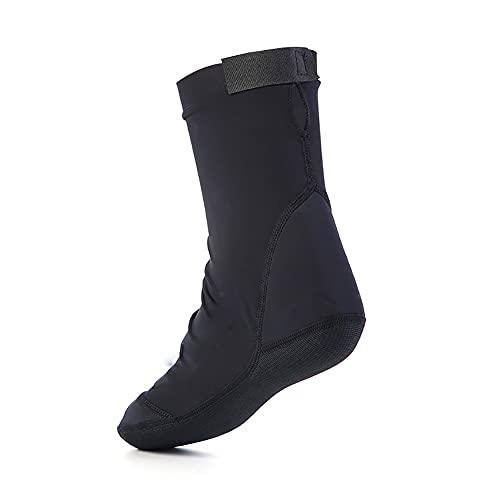QAOSHOP Calcetines de buceo elásticos de licra para hombres y mujeres, calcetines de playa antideslizantes para natación, navegación, kayak, surf, deportes acuáticos, color negro, 42