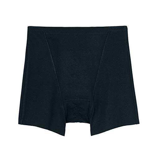 [グンゼ]ショーツいいここちひびきにくい綿85%サニタリーレギュラー1分丈HV0662レディースブラック日本L(日本サイズL相当)
