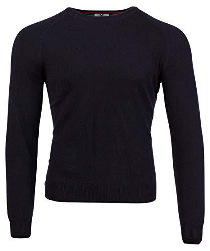 Direct Cashmere Blauer Herren Kaschmir-Pullover, Rundhals-Sweater, Größe 52 - L