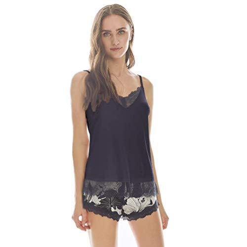 PROMISE Pijama Mujer Tirante Fino Verano N09162 - Marino, L