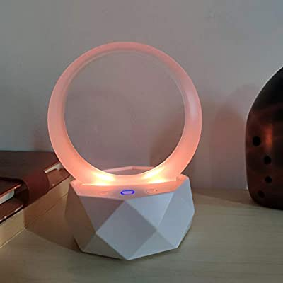 RUOW Music Light, Portable Smart Bluetooth Speaker Table Lamp, Bedroom Kitchen Living Room Decorative Light, Ambient Light, Reading Light, Night Light, RGB Colorful - Red, Blue and White … (White)
