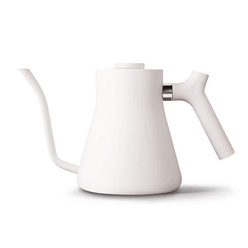 Quskto Koffie Ketel, Giet Over Koffie Pot RVS Met Antler Vorm Handvat Thermometer Theeketel Lange Smalle Tuit 1L Multi-color Optionele Duurzaam Handvat en Gemakkelijk Schoonmaken