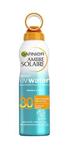 Garnier Ambre Solaire - UV Water - Brume Invisible Protection & Fraîcheur FPS 30 - 200 ml - Lot de 3