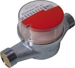 Andrae Einstrahl - Wasserzähler Warmwasser Qn 1,5 , 130 mm, Anschlussgewinde: 3/4