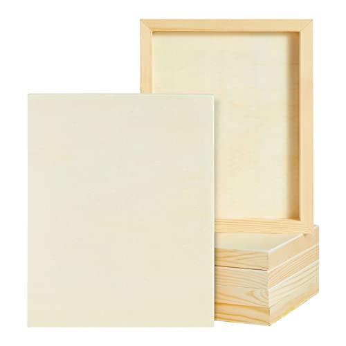Lienzos de Madera con marco para pintar (20,3 cm x 25,4 cm, Paquete de 6)