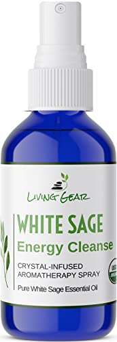 Living Gear White Sage Smudge Spray to Clear...