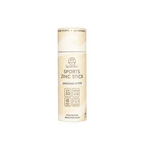 Protector Solar Natural Zinc en Stick - FPS 30 - Biodegradable - Filtro UV Mineral (Òxido de Zinc) - 3 Ingredientes - BLANCO ORIGINAL (30 g)
