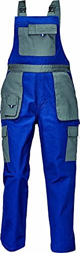 DINOZAVR Max Evolution Salopette de Travail Multi-Poches pour Femme - Durable et Léger - Bleu/Gris 42