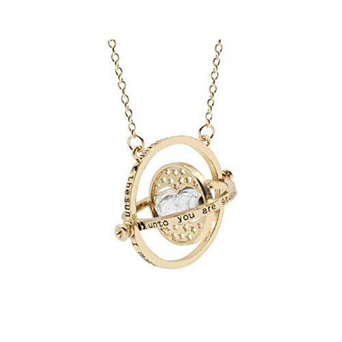 Unda118 Zeitumkehrer Hermine Granger Rotierende Spins Sanduhr Halskette, Sanduhr Halskette Time Rotary (Weiß)