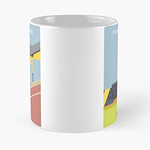 Punt Road Richmond Footy Places Aussie Rules Football Architecture Mike Hugo Mug - Best 11 oz Kaffee-Becher - Tasse Kaffee Motive