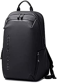 ARCTIC HUNTER Men's Backpack Multifunctional Waterproof Laptop USB Charge Outdoor Sport School Travel Bag Black B00423