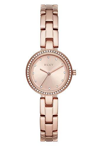 DKNY Damen-Uhren Analog Quarz One Size Rosé 32010654