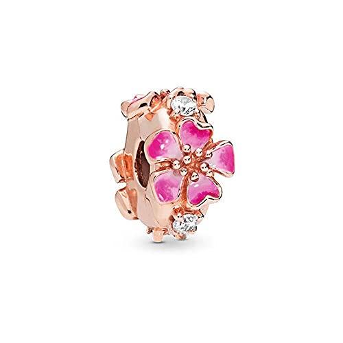 LISHOU Mujer Pandora Rose Gold Magnolia Love Fashion Colgante Beads Fit European Pandora Pulseras Collares Accesorios DIY Fabricación De Joyas A15
