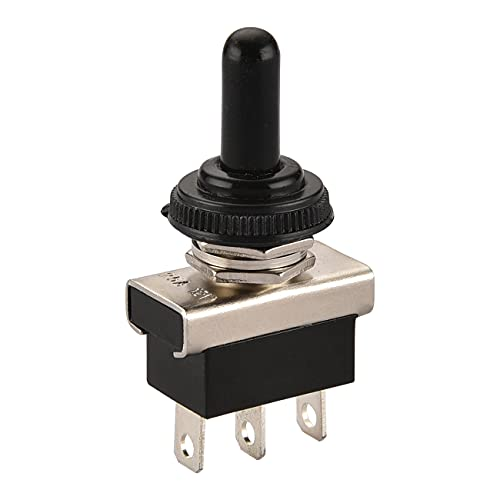 Heschen Métal Interrupteur à bascule Flick Flip 12 V 25 A Spdt on/off/on 3 position 3 broches pour éclairage de tableau de bord avec capuchon étanche