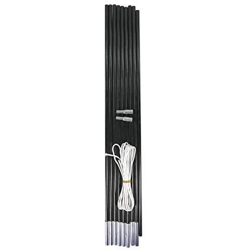 Best Sporting Fiberglas Stab für Zelte, Schwarz, 9-teilig, Länge 450 cm