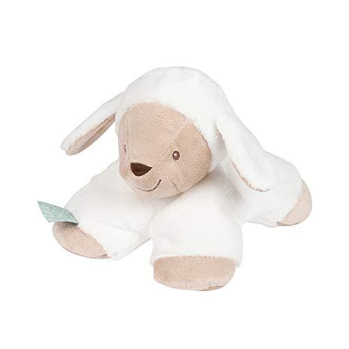 Nattou Doudou Peluche Tim le Mouton, Compagnon de naissance, Taille : 15 cm, Fanny et Oscar, Blanc/Beige